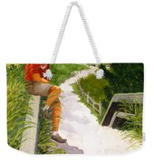 Old Codger On Beach Weekender Tote Bag