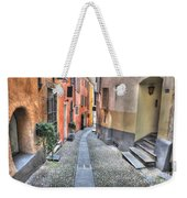 Old Colorful Stone Alley Weekender Tote Bag
