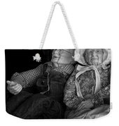 Old Couple Mannequins In Shop Window Display Weekender Tote Bag