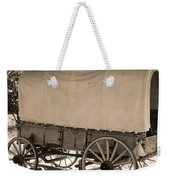 Old Covered Wagon Out West Weekender Tote Bag by Dan Sproul