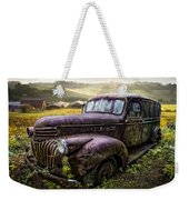Old Dairy Farm Truck Weekender Tote Bag