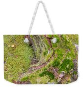 Old Decaying Lichens Moss Covered Taiga Tree Trunk Weekender Tote Bag