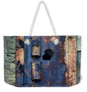 Old Door At Abandoned Prison Weekender Tote Bag