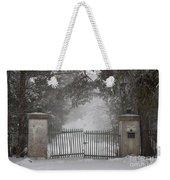 Old Driveway Gate In Winter Weekender Tote Bag