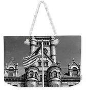 Old Dupage County Courthouse Flag Black And White Weekender Tote Bag