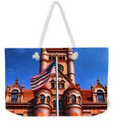 Old Dupage County Courthouse Flag Weekender Tote Bag