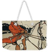 Old English Sports And Games Hunting Weekender Tote Bag