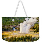 Old Faithful From Observation Point Weekender Tote Bag