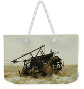 Old Farm Equipment Northwest North Dakota Weekender Tote Bag