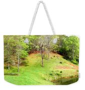 Old Farm House And Pond Weekender Tote Bag