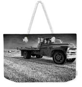 Old Farm Truck Black And White Weekender Tote Bag