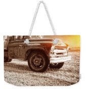 Old Farm Truck With Explosion At Night Weekender Tote Bag