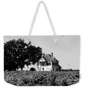 Old Farmhouse Surrounded By Cotton Weekender Tote Bag