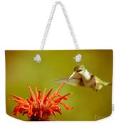 Old Fashioned Hummingbird Weekender Tote Bag
