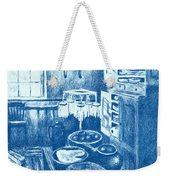 Old Fashioned Kitchen In Blue Weekender Tote Bag