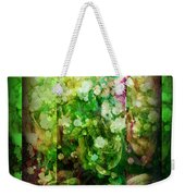 Old Fashioned Merry Christmas - Roses And Babys Breath - Holiday And Christmas Card Weekender Tote Bag