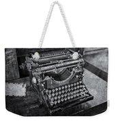 Old Fashioned Underwood Typewriter Bw Weekender Tote Bag