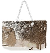 Old Fashioned Winter Weekender Tote Bag