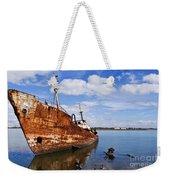 Old Fishing Ship Wreck Weekender Tote Bag
