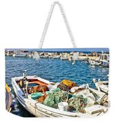 Old Fishing Wooden Boat With Nets Weekender Tote Bag