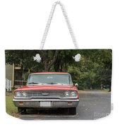 Old Ford Galaxy In The Rain Weekender Tote Bag