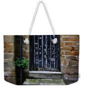 Old Forgotten Black Front Door Weekender Tote Bag