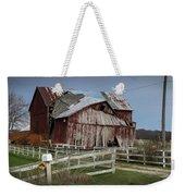 Old Forlorn Decrepid Wooden Barn Weekender Tote Bag