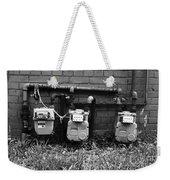 Old Gas Meters Weekender Tote Bag