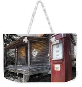 Old Gas Pump Weekender Tote Bag by Debra and Dave Vanderlaan