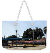 Old Gas Station Weekender Tote Bag