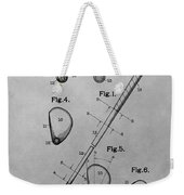 Old Golf Club Patent Illustration Weekender Tote Bag