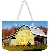 Old Green Barn South Of Rosman Weekender Tote Bag