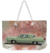Old Green Car Weekender Tote Bag