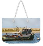 Old Green Scow Morro Bay Harbor Weekender Tote Bag