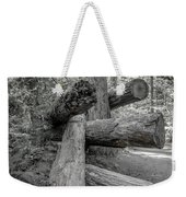 Old Growth Forest Black And White Collection 4 Weekender Tote Bag