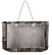 Old Grunge Plywood Board On A Wooden Wall Weekender Tote Bag