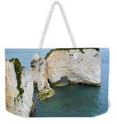 Old Harry Rocks On The Jurassic Coast In Dorset Weekender Tote Bag
