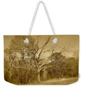 Old Haunted Tree In Sepia Weekender Tote Bag