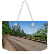 Old Highway And Forest Weekender Tote Bag