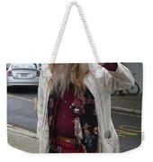 Old Hippie In Woodstock Ny  Weekender Tote Bag