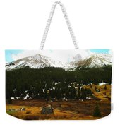 Old Homestead In The Colorado Mountains Weekender Tote Bag