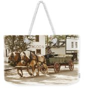 Old Horse Drawn Wagon At Fort Edmonton Park Weekender Tote Bag