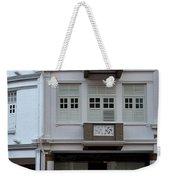 Old House And Funky Orange Car Weekender Tote Bag