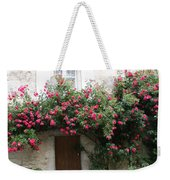 Old House Covered With Roses Weekender Tote Bag