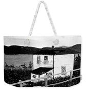 Old House In Black And White Weekender Tote Bag