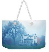 Old House In Fog Weekender Tote Bag