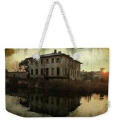 Old House On Canal Weekender Tote Bag
