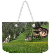 Old House On The Green Field Weekender Tote Bag