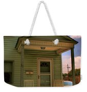 Old Houses - New Jersey - In The Oranges - Green House With Flower Pots And Rocking Chairs - Color Weekender Tote Bag