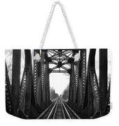 Old Huron River Rxr Bridge Black And White  Weekender Tote Bag